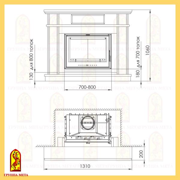 купить во Владимире каминную облицовку МЕТА Валенсия 700-800